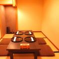 接待やお祝いにもおすすめの落ち着いた雰囲気の個室です。