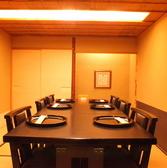 テーブルタイプの個室空間もございます。6名様までのお部屋です。