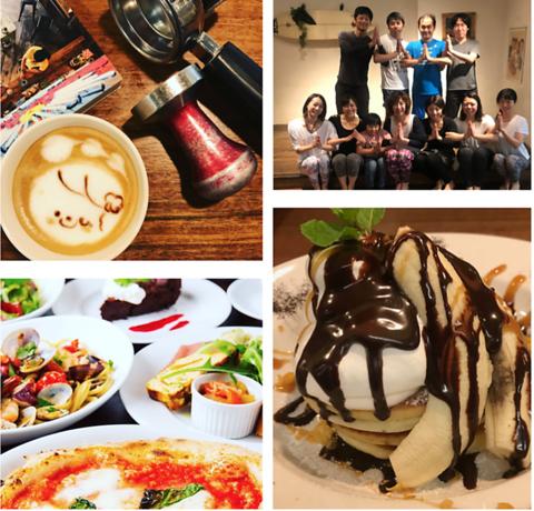カフェメニュー、タパス料理、パンケーキ、フレンチトーストなどを揃えたカフェ