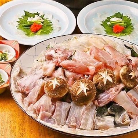 【活とらふぐ満喫♪】てっさは勿論、極上の雑炊も!活とらふぐコース☆6品/10000円☆