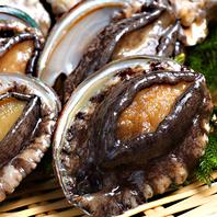 新鮮な活貝を浜焼きで