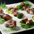 料理メニュー写真「選べる5種類」近江牛巻き野菜串の盛り合わせ