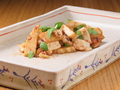 料理メニュー写真筍 × ヤリイカ × 木の芽 塩辛プロヴァンサル