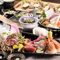 料理長自慢の九州料理、創作和食が愉しめる宴会コースは飲み放題付3000円(税込)~多数ご用意!ボリューム満点の阿蘇山をイメージした肉鍋や、幻の地鶏「天草大王」、熊本名物「馬刺し」が味わえる贅沢な内容となっております。飲み会や宴会、接待、女子会に是非ご利用ください。
