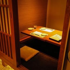 掘りごたつ席ではゆっくりと足を延ばして和食料理をお楽しみいただけます。