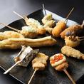 旬の食材から人気串までこだわりの串揚げをお召し上がりください。