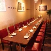 テーブル席をすべて利用すれば最大24名様のパーティー利用が可能☆壁で仕切りがあるので半個室的なご利用ができます!