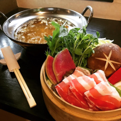 料理メニュー写真黒豚しゃぶしゃぶ(一人前)