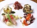 料理メニュー写真シェフおまかせ5種の前菜盛合せ
