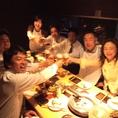 10人~20人の大宴会は2Fの宴会半個室で!