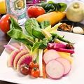料理メニュー写真本日の農家直送野菜各種&盛合せ