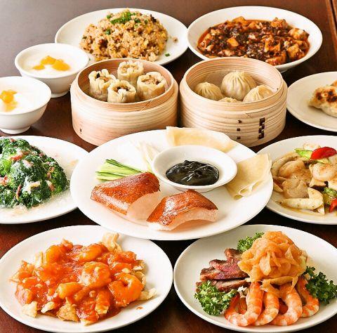 食べ放題だけではなく、宴会向けのコース料理のメニューも豊富!贅沢なフカヒレもご堪能いただけます♪