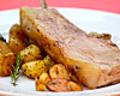 料理メニュー写真南州金豚の骨付ロースのグリル