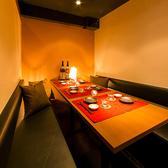 【4~6名様向け テーブル個室】インテリアが人気のスタイリッシュ和風個室。女性のお客様からも大変ご好評いただいているお席のため、早めのご予約をオススメ致します!