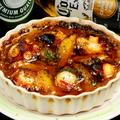 料理メニュー写真マダコと皮付きポテトのアヒージョ ディアボラ風