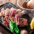 料理メニュー写真鹿児県産黒毛和牛 さつまビーフ炭炙り(120g)
