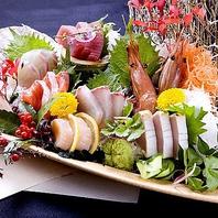 旬の鮮魚をふんだんに盛り付けた名物☆大漁7種盛り!