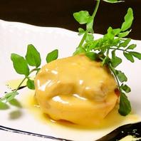 フォアグラとチーズトマトソテーのバルサミコソース
