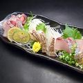 料理メニュー写真熟成鮮魚の3点盛り