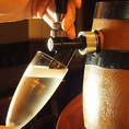 【1】まずは樽から抽出するフレッシュな「スパークリングワイン」(420円)で乾杯♪もちろん「生ビール」もご用意しております!!豊富な種類の「スパークリングワインカクテル」も女性に大人気です★