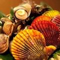 料理メニュー写真とれたて貝の三種盛り