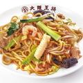料理メニュー写真もちもち太麺の炒め焼きそば