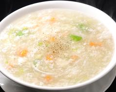 海鮮と豆腐とろみスープ