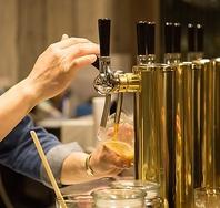 国産のクラフトビールを常時 8種類ご用意。