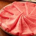料理メニュー写真【コース料理より】  黒毛和牛しゃぶしゃぶ・すき焼き