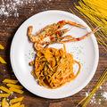 料理メニュー写真スカンピのトマトクリームスパゲティ