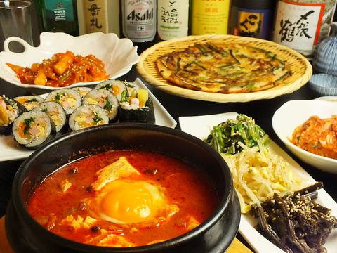 じっくり仕込んで作り上げた韓国料理!単品だけでなくコースでも楽しめます♪