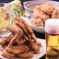 料理メニュー写真九州ご当地【絶品若鶏と博多一番鶏の食比べ】てば咲けいすけ堪能コース4000円