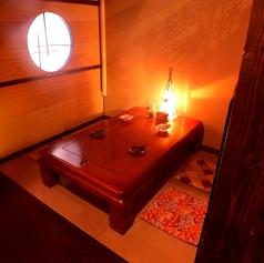 隠れ家感たっぷりな個室席は女子会やデートなどのプライベート利用に最適!
