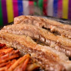 料理メニュー写真黒豚 厚切サムギョプサルセット/黒豚サムギョプサルセット
