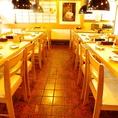 テーブル席は最大20名様まで対応可能です、大人数のご宴会・パーティーもご相談下さいませ!