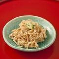 料理メニュー写真ミミガーの味噌和え(豚の耳)