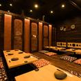 団体様でも安心の個室空間♪同窓会、会社宴会など各種宴会に最適な空間になっております。名古屋駅/名駅/居酒屋/個室/飲み放題