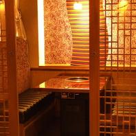 雰囲気自慢の半個室はとっても人気