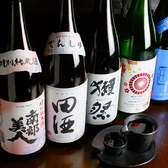 各種焼酎、日本酒を種類豊富に取り揃えています。