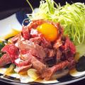 料理メニュー写真■ 米沢牛の炙りユッケ