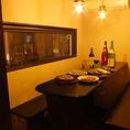合コンや各種宴会におすすめな、半個室はご予約をおすすめします!!