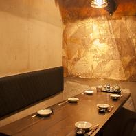 個室席6室完備。飯田橋で落ち着いた雰囲気のいい居酒屋