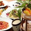 料理メニュー写真前菜・パスタ・メインディッシュをそれぞれメニューからお選びいただけるコースです。