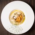 料理メニュー写真牡蠣とウニのクリームリゾット