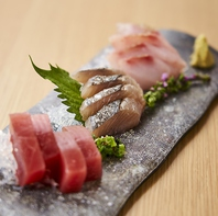 静岡県産の新鮮なお魚を使った刺身盛り合わせに舌鼓♪