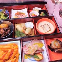 季節の野菜をふんだんに使用した料理を松花堂でご提供
