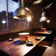 落ち着いた和の空間でゆったりと食事をお楽しみ下さい