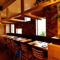 広々としたテーブルでお食事をお楽しみいただけます♪名古屋駅/名駅/居酒屋/個室/飲み放題
