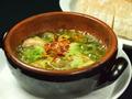 料理メニュー写真プリプリ海老とマッシュルームのアヒージョ