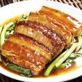 料理メニュー写真豚肉の角煮中国野菜添え